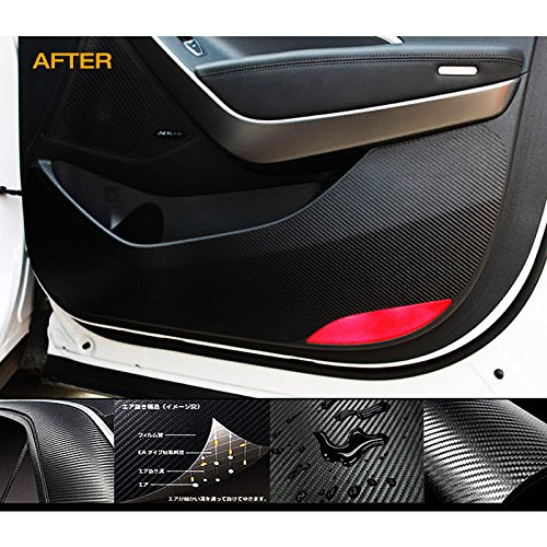 Carbon Door Protect Anti Scratch Cover Kick Decal Sticker Carbon Black For Hyundai 2012-2014 Genesis Coupe