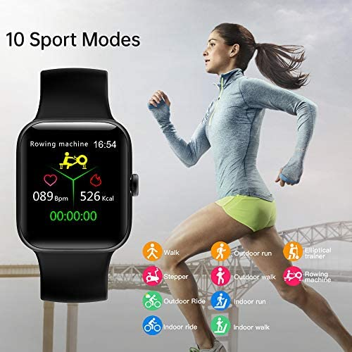 Smart Watch for Men Women,Fitness Tracker with 1.54″ Full Touch Color Screen ,IP67 Waterproof Pedometer Smartwatch with Pedometer Heart Rate Monitor Sleep Tracker for Android and iOS Phones 51iUlaW3p0L