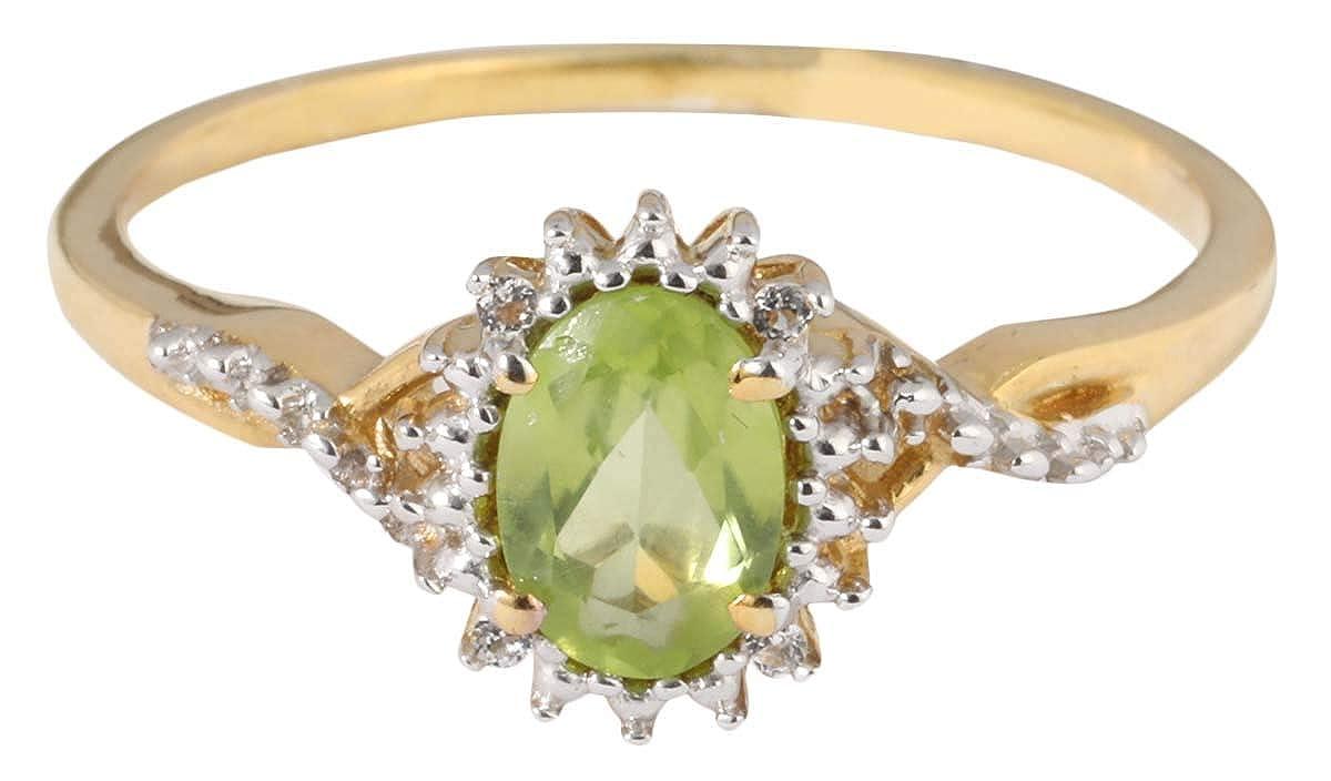 Banithani Peridot 925 /Sterling Silver Rings For Women Indian Fashion Jewelry