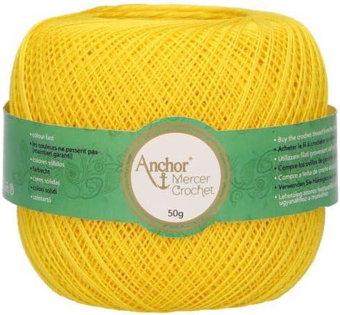 Anchor Hilos De Crochet Mercer Crochet, Grosor: 20, Embalaje: 50g ...