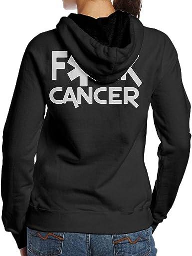 BB/&YYY Fuck Cancer Womens Pullover Hoodie Sweatshirt Back Print Hoodies