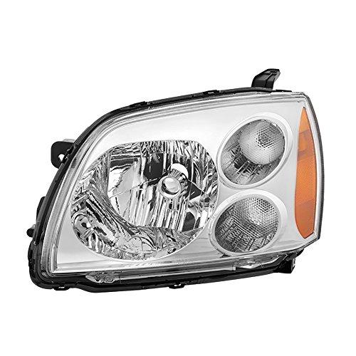 VIPMOTOZ For 2004-2012 Mitsubishi Galant Headlight - [Factory Style] - Metallic Chrome Housing, Driver ()