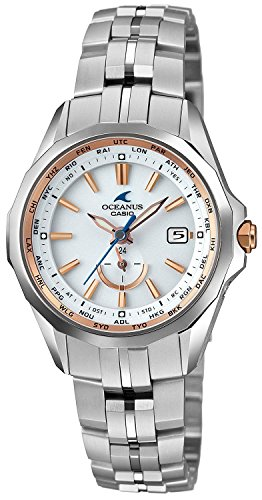 CASIO watch OCEANUS Manta Ladies world six stations corresponding Solar radio OCW-S340-7AJF Ladies