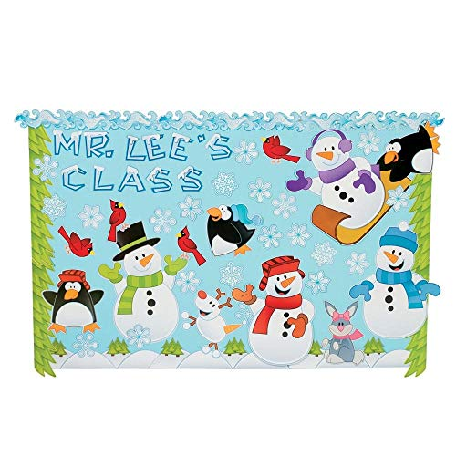 143 Pc Winter Wonderland Bulletin Board Set - Teacher Resources & Bulletin Board Supplies