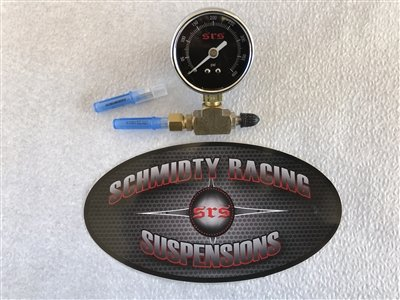 Needle Nitrogen - Schmidty Racing Suspensions Nitrogen Needle Fill Adaptor with Gauge, Shrader - 400PSI