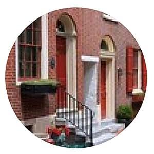 alfombrilla de ratón Old Philadelphia - callejón de Elfreth - ronda - 20cm