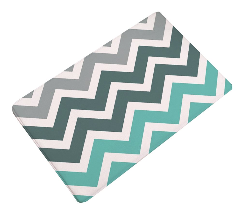 LivebyCare Colorful Geometric Thin Door Mat Flannel Antislip Doormat Entry Decor Front Entrance Indoor OutThin Door Mats for Waiting Room Lounge Restroom Washroom