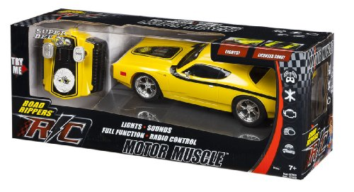 Yellow Radio Control Super Bee Muscle Car with Lights and Sound by Motor Muscle