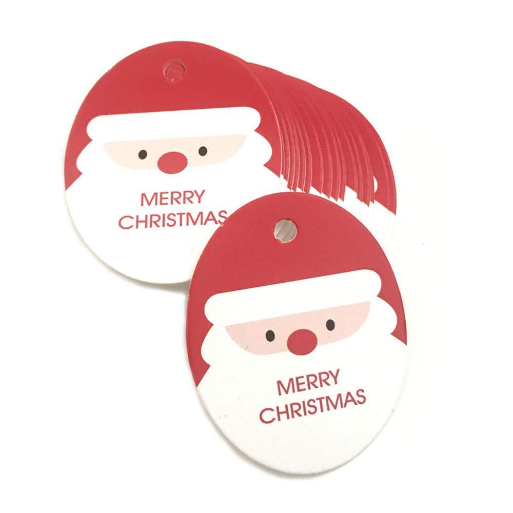BHYDRY 50pcs Etiquetas Colgantes de Papel Etiqueta del Favor de la Fiesta de Navidad Precio de Navidad Tarjeta de Regalo Etiqueta de Navidad: Amazon.es: ...