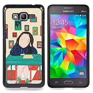 - Painting Abstract Lady Art/ Duro Snap en el tel????fono celular de la cubierta - Cao - For Samsung Galaxy Grand Prime G530H G5308
