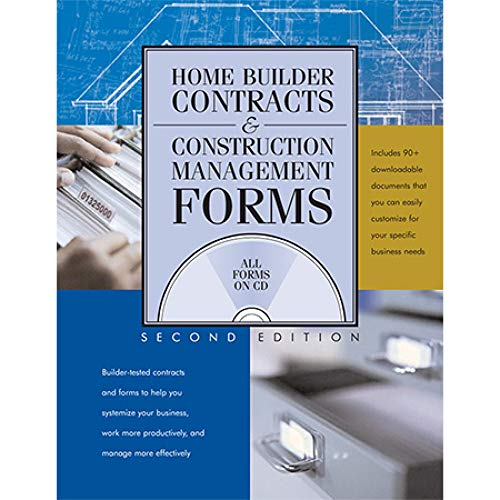 Home Builder Contracts and Construction Management Forms Paperback – December 1, 2006