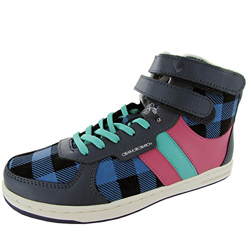 Creative Recreatie Dames Dicoco Sneaker Schoen Blauw Buffalo Hot Pink