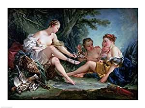 Francois Boucher - Diana después de la caza Artistica di Stampa (60,96 x 45,72 cm)