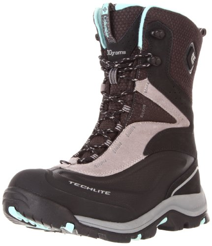 Columbia Women's Bugaboot Plus Electric Snow Boot,Black/Gulfstream,6 M US