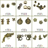 330 PCS Jewelry Making Charms Findings T1466 Kitty Cat Jewellery Bronze Charme Supply Supplies Crafting Bracelet Wholesale Craft Alloys Lots Bulk Necklace Antique Retro DIY