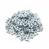 uxcell 100 Pcs 5mm Hole Dia Metal Car License Plate Rivets Panel Fastener Clips L Size