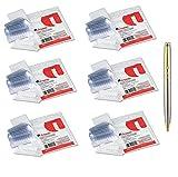 Hanging File Folder Plastic Index Tabs, 1/5 Tab Cut, 2 1/4'' Tab, Clear, 25/Pack, Sold As 6 Packs Per Bundle (42215) - Bundle Includes Plexon Ballpoint Pen