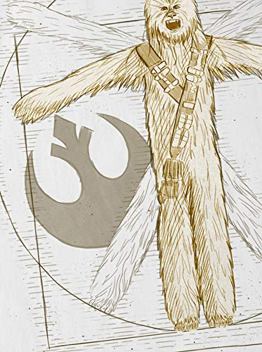 De shirt n A Blanc Chewie Vitruve T t Femme Vinci Da Wookiee ttSpqaw