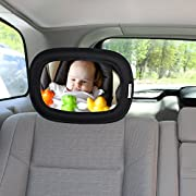 VANDEK Baby Back Seat Mirror for Car - Rear View Baby Mirror - Adjustable Shatter Proof Glass Safety Mirror Auto Infant Convex