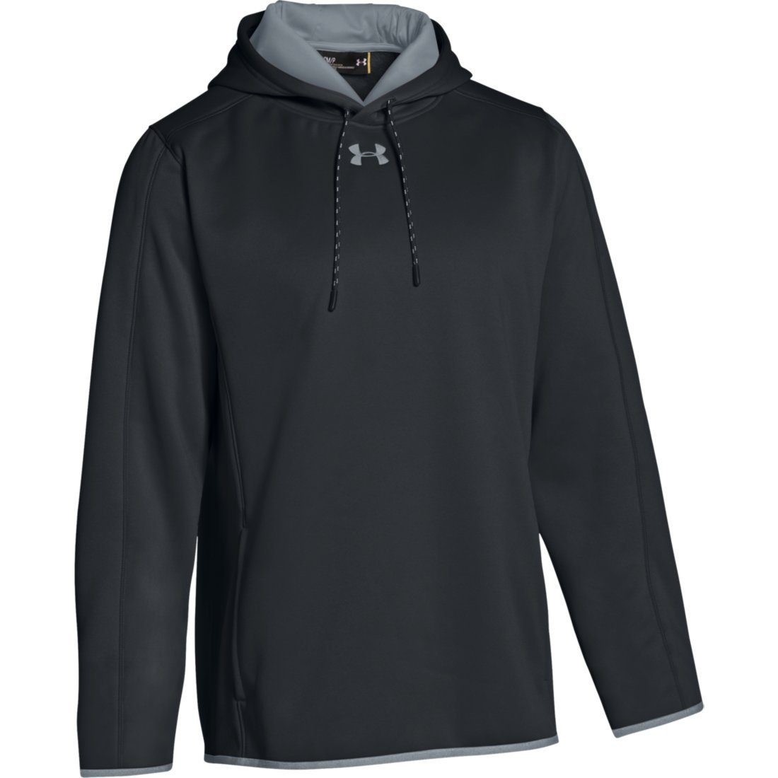 Under Armour Men's Double Threat Fleece Hoody (Large, Carbon Heather)