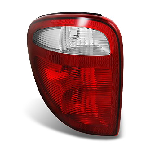 For 2001-2003 Dodge Caravan Plymouth Voyager Chrysler Town & Country Red Clear Driver Side Tail Light Lamp
