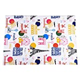 Mudder Kids Painting Drop Cloth Washable with France Attractions Pattern for Art Easel