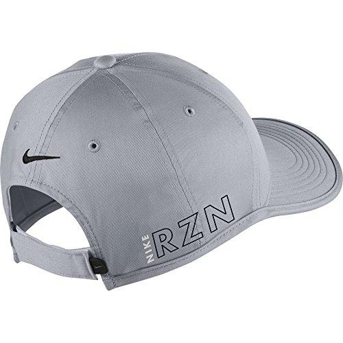 NEW Nike Tiger Woods Ultralight RZN Vapor Wolf Grey Black Adjustable Hat Cap 97b6a2d31a96