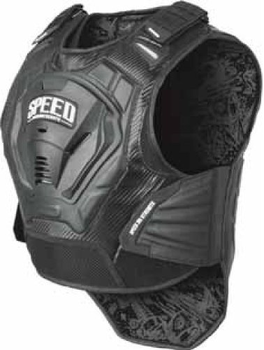 Speed and Strength Lunatic Fringe Men's Motorcycle Vest (Black, XX-Large/XXX-Large)