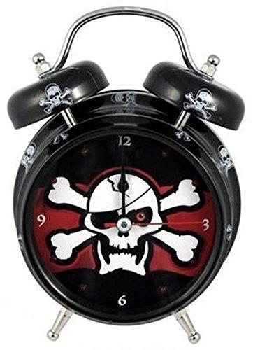 Pirates Metal Clock - Kole Clock Jolly Roger Pirate Light and Sound Alarm