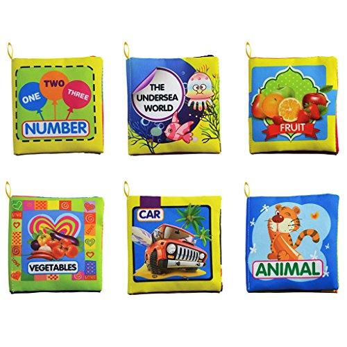 6PCS/Set Soft Cloth Books Infant Educational - 7