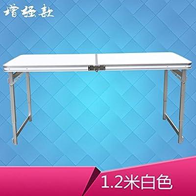 Xing Lin Table Pliable Table De Pique-Nique Barbecue Piscine Camping Pliante Aluminium Table Et Chaises Tables Et Chaises Extérieures Portable Pliant, L'Amélioration De 1,2 M Blanc