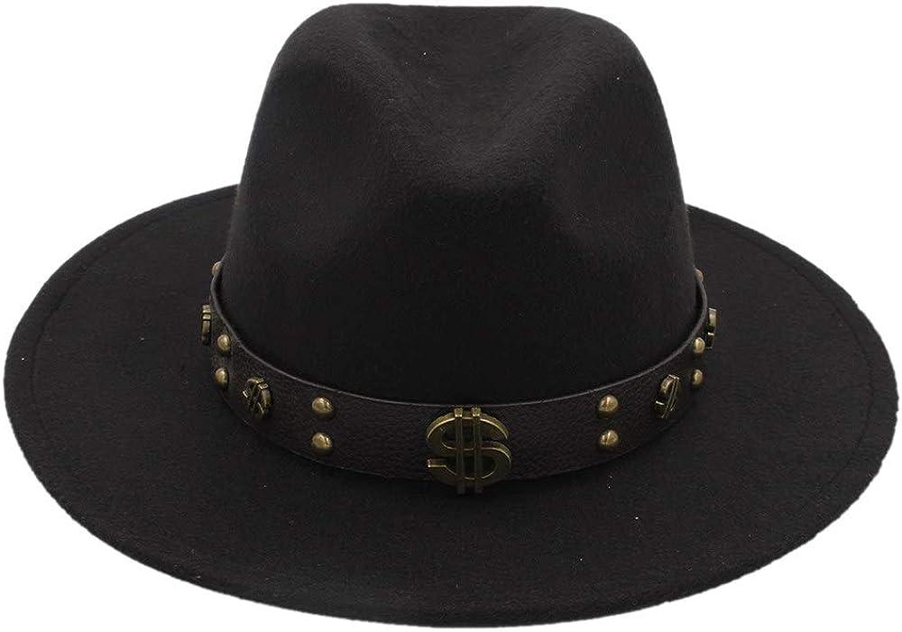 SXBag Women Men Felt Fedora Hat with Tassel Bohemia Ribbon Elegant Lady Winter Autumn Jazz Church Godfather Sombrero Caps`