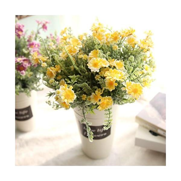 yellow Hot Sale!!Woaills Artificial Fake Flower Small Fresh Grass Bouquet Home Wedding Decor