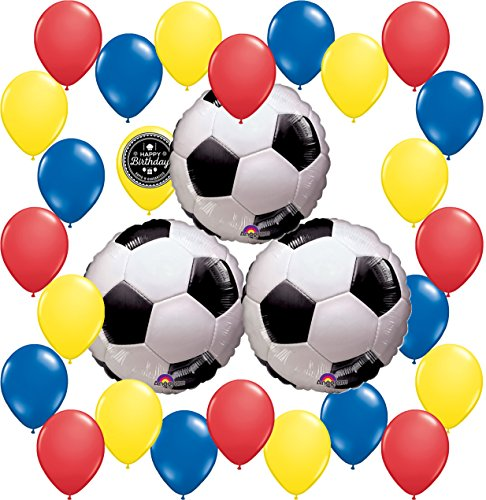 Combined Brands World Cup Soccer Ball Party Supplies Decorations Balloon Theme Bundle For (COLOMBIA) -