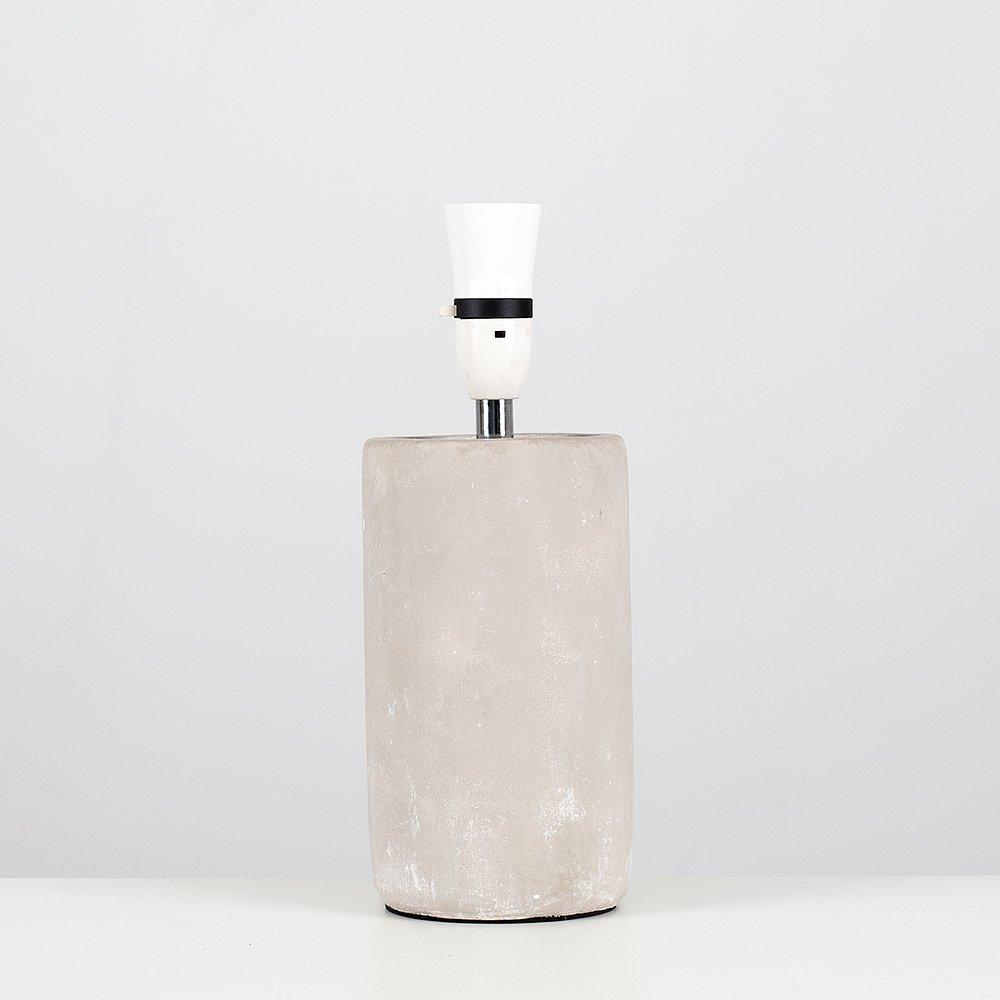 Modern Cement/Stone Effect Ceramic Cylinder Table Lamp Base MiniSun
