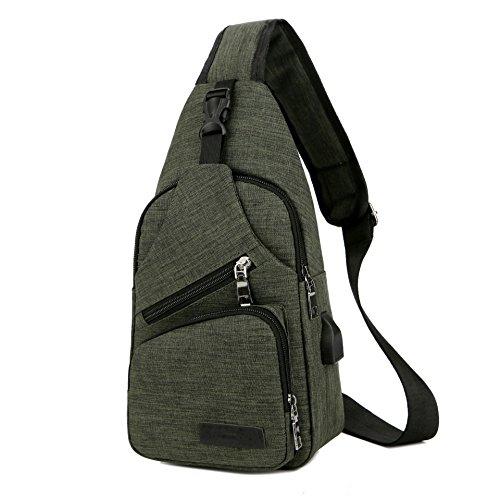 Green For Small Bag Men Black Travel Purse Shoulder Sling Crossbody Bags TgvqRwnxxB