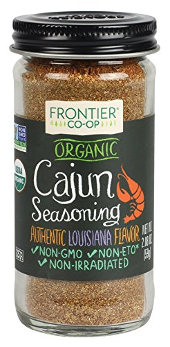 Frontier Cajun Seasoning Certified Organic, 2.08-Ounce Bottle (Best Cajun Spice Brand)