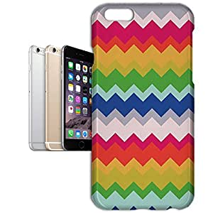 Phone Case For Apple iPhone 6 Plus - Multicolor Chevron Rainbow Hardshell Cover
