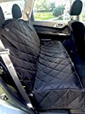 Beauty Traders Boutique Pet Series Car Seat Covers for Dogs, Large, Black, Non-Slip, Waterproof & Scratch Resistant, Hammock Convertible, Luxury Quilted Pet Car Seat Cover for Trucks, Cars & SUV