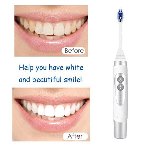 Cepillos de dientes eléctricos sónicos De alta frecuencia impermeable 3 modos con 3 cabezas de repuesto con la caja que viaja USB recargable: Amazon.es: ...