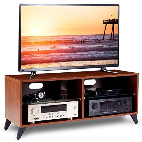 RFIVER Mueble TV Mesa para Televisión de Madera para Salon Dormitorio 1100x400x460 de Color Nogal TS4002: Amazon.es: Electrónica