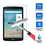 LG G Pad X 8.0 Glass Screen Protector, IVSO Tempered-Glass Protector with [Crystal Clearity] [Scratch-Resistant] [No-Bubble Easy Installation] for LG G Pad X 8.0 (V521WG)/G Pad III 8.0 Tablet(1pcs)