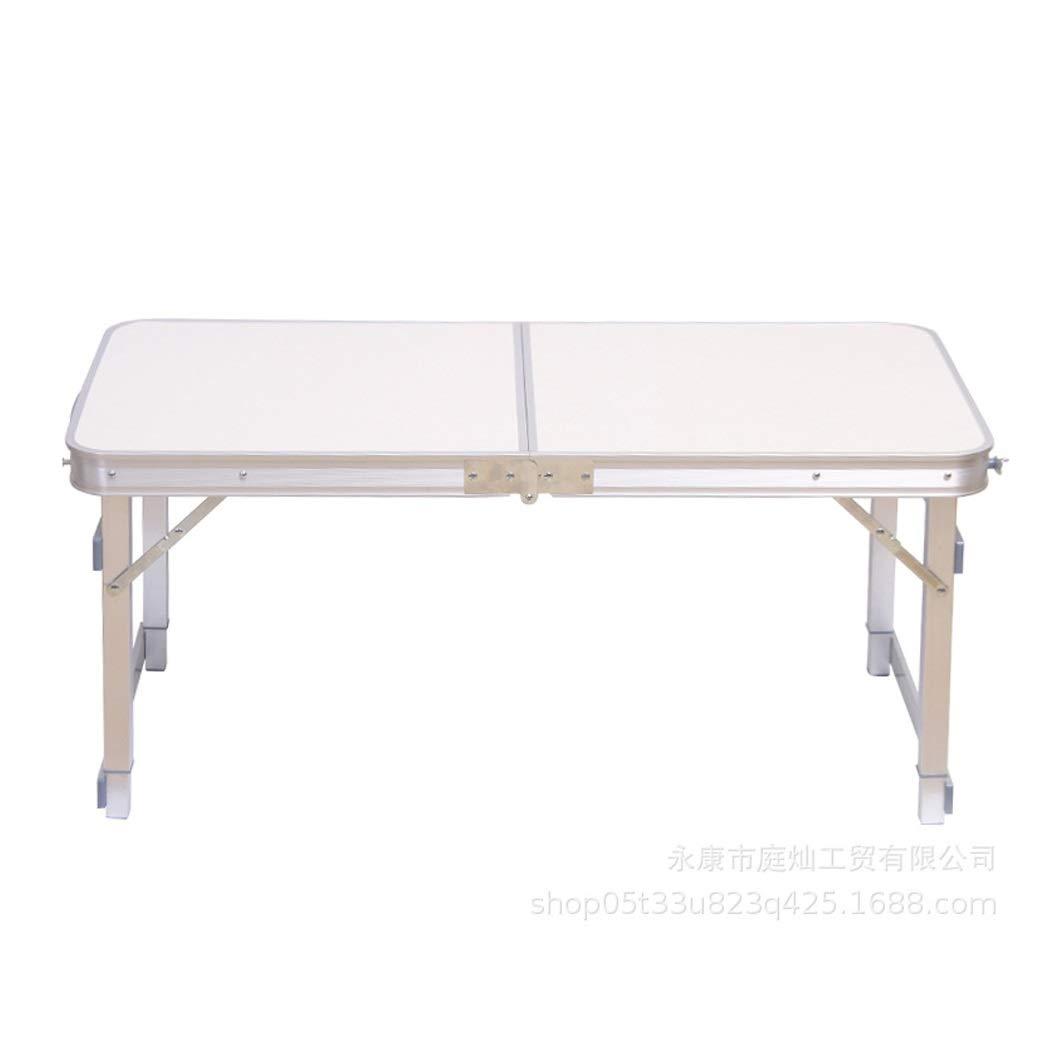 折りたたみテーブルポータブルアルミ折りたたみテーブルベッドコンピュータテーブル屋外折りたたみテーブルシンプル折りたたみキャンプテーブル (Color : White, Size : 45*100cm) B07TH7JLRF White 45*100cm
