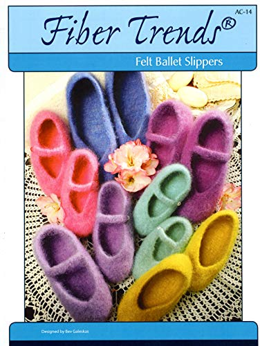 Felt Ballet Slippers for Women & Children - Knitting Pattern - Fiber Trends AC-14