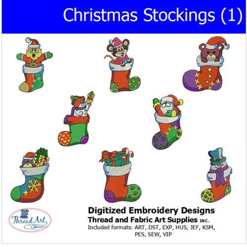Threadart Machine Embroidery Designs - Christmas Stockings(1) - USB Stick ()