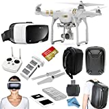 """DJI Phantom 3 Professional Quadcopter Drone Bundle with Zeiss VR One Virtual Reality Headset & eDig """"Eye in the Sky"""" Package (Galaxy S6)"""