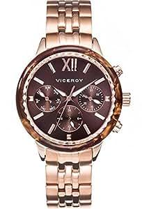 Viceroy Reloj Multiesfera para Mujer de Cuarzo con Correa en Silicona 47850-43: Amazon.es: Relojes