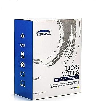 Toallitas de limpieza de lentes prehumectadas y cristal, aptas para lentes AR, secado rápido, sin rayas, envueltas individualmente.: Amazon.es: Hogar