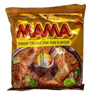 Mama Oriental Instant Style Noodles Creamy Shrimp Tom Yum Flavor - 3.17 ounce x 20 (Shrimp Creamy)