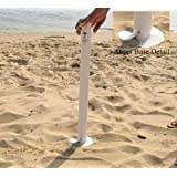 Beach Umbrella Anchor - Sand Anchor Easily Twists In To Secure Umbrella - 26 Inches (Colors May Vary)